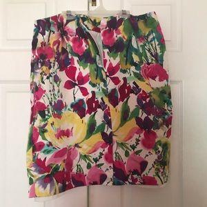 Jones New York Knee Length Floral Midi  Skirt- 16